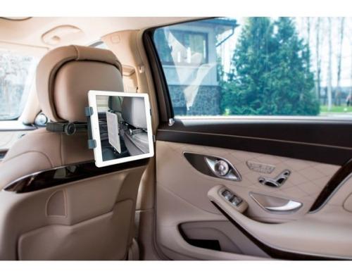 soporte tablet ipad auto respaldo cabeza universal aidata