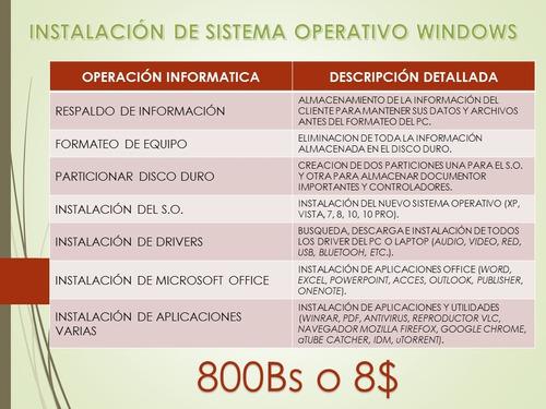soporte tecnico a pc
