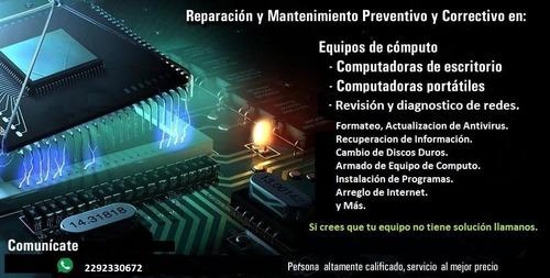 soporte técnico a pc y laptops
