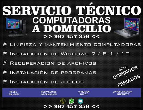 soporte técnico computadoras-laptop a domicilio - chorrillos