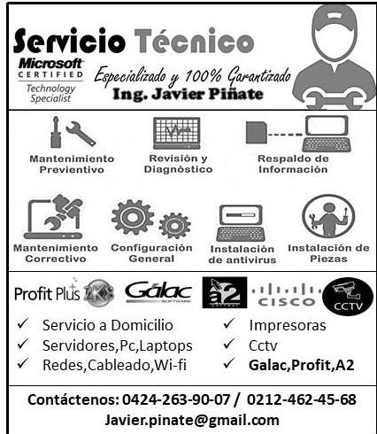 soporte técnico en computación, impresoras,redes, laptops