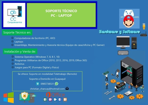 soporte técnico en computadoras pc - laptop