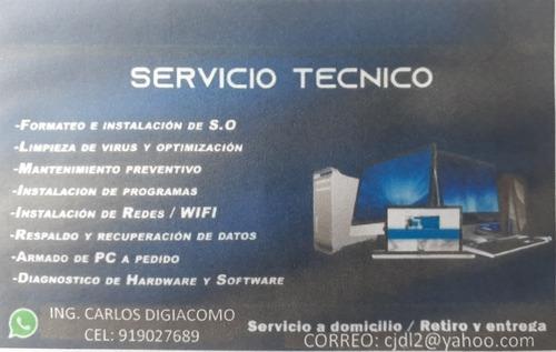 soporte tecnico informatica a pc o laptop