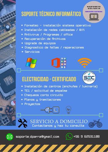 soporte tecnico informatica & electricidad domiciliaria