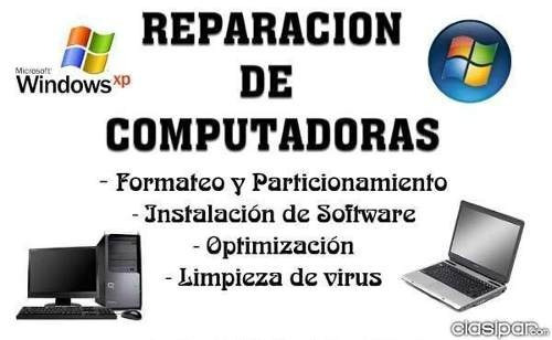 soporte tecnico pc laptop formateo instalacion windows cctv