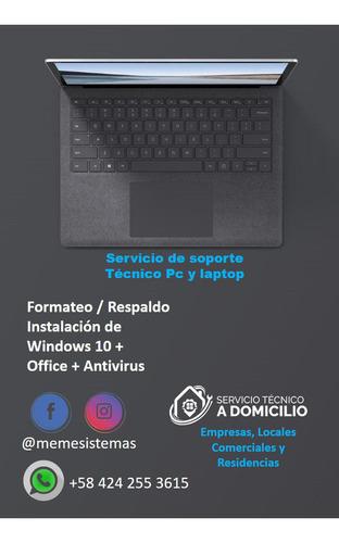 soporte técnico pc y laptop