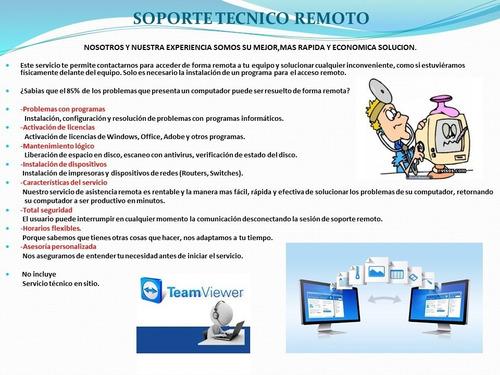 soporte técnico remoto de computadores pc y portátiles
