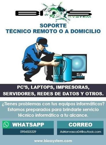 soporte técnico remoto o a domicilio