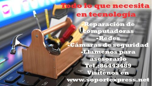 soporte tecnico, reparación de computadoras, cámaras etc...