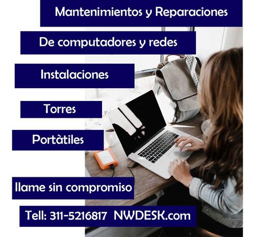 soporte técnico reparación mantenimiento computadores