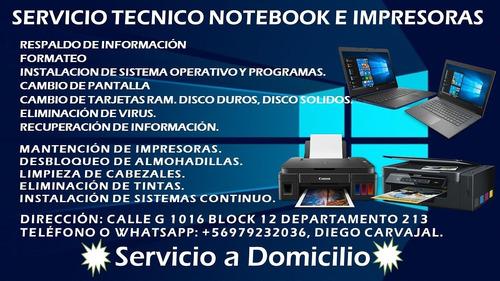 soporte técnico vía remota teamviewer notebooks e impresoras