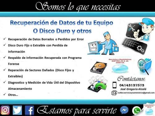 soporte técnico y recuperación de data