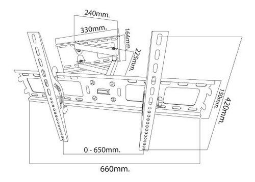 soporte tipo brazo universal para tv lcd led 30-60, ev8829