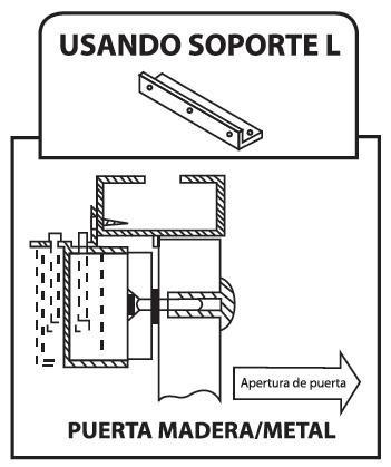 soporte tipo  l  para chapa electromagnetica