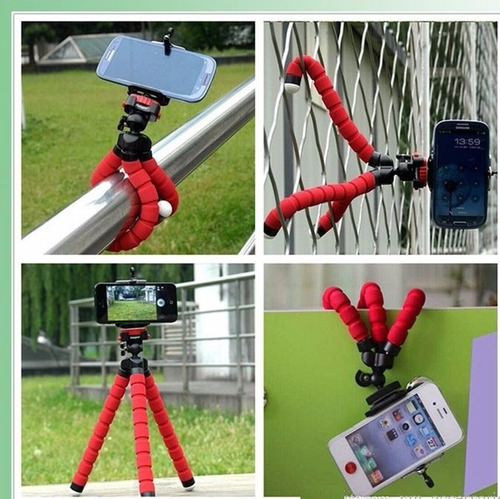 soporte tripode telefono camara flexible tipo pulpo selfie