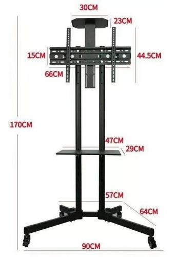 soporte tv con ruedas inclinacion regulación 32 70 pulgadas