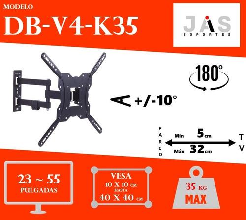 soporte tv doble brazo 23 32 40 42 50 55 x mayor 10 unidades