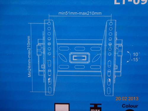 soporte tv fijo con inclinación frontal, de 17 hasta 37 pulg