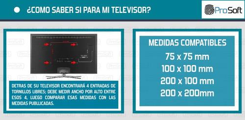 soporte tv fijo extra chato 19 24 27 32 39 40 42 prosoft