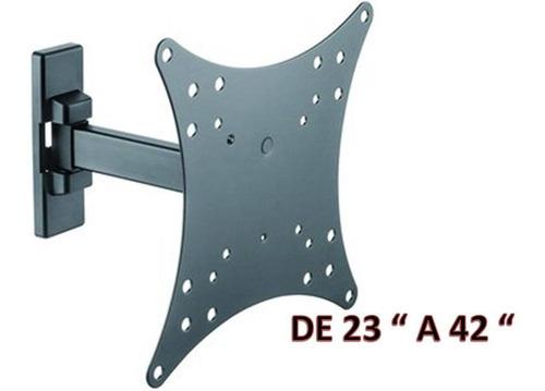 soporte tv lcd led 23 a 42 brateck con brazo hasta 20 kg