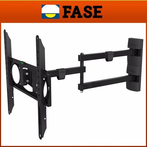 soporte tv lcd led brazo móvil 70cm 26 32 37 40 42 46 50 55 pulgadas basculante vertical horizontal 55kg vesa 400mm