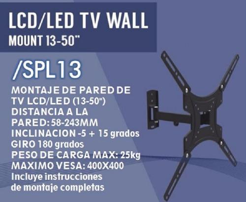 soporte tv led 13   24  32  40  42  50 artekit spl13 esdj