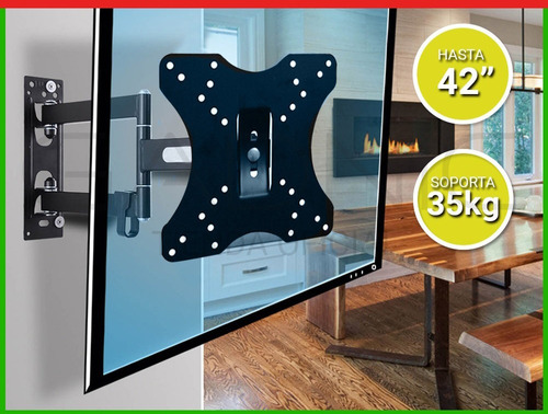 soporte tv led 14 hasta 42 pulgadas tele 2 brazos movibles