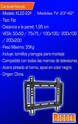 soporte tv led fijo 23 29 30 32 39 40 42