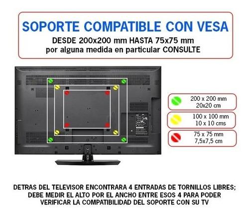 soporte tv led lcd brazo móvil articulado para 32 40 42 43