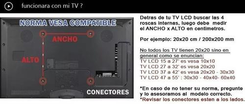 soporte tv led lcd - fijo 32 40 43 55 excelente calidad st4