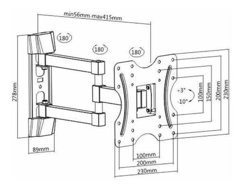 soporte tv led lcd - movil - 17 20 32 40 42  reforzado st1
