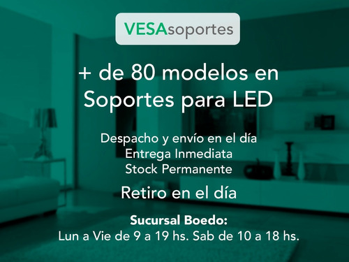 soporte tv led lcd smart iofi vesa 400x400 movil articulado