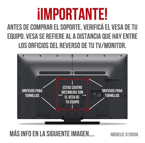 soporte tv led lcd smart monitor de techo 17 a 42 pulgadas