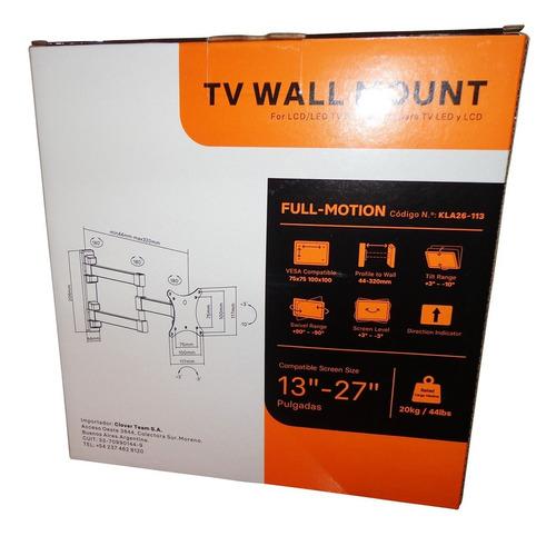 soporte tv led monitor articulado 13 19 20 22 24 27 movil