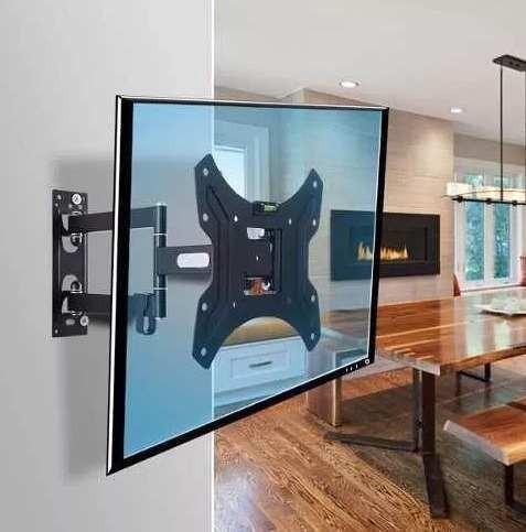 soporte tv led netmak 2 brazos moviles de 32 42 43 nm-st04