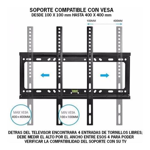 soporte tv led smart fijo 60 55 50 49 43 42 40 32 pulgadas