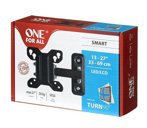 soporte tv led smart gira 90° 13 a 27 one for all wm2140