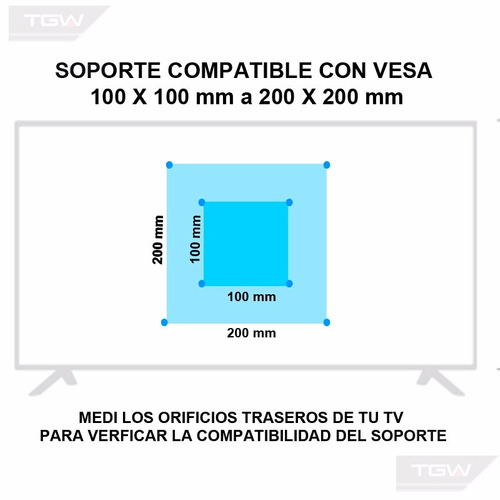 soporte tv led tagwood / tgw  movil de 24  32 37 pulgadas