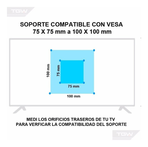 soporte tv led/lcd basculante de 10  a 24   modelo.hstv01t