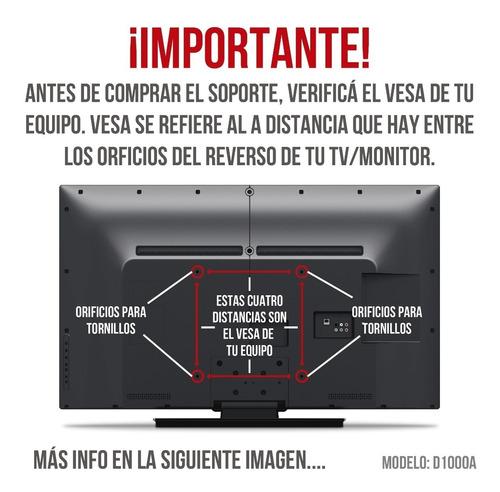 soporte tv monitor led lcd para pared con brazo estandar