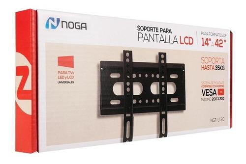 soporte tv noganet lt20 para tv lcd led plasma monitor 14 a 42 hasta 25k vesa 75x75 - 100x100 - 200x200