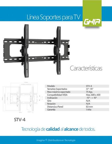 soporte tv pantallas de 37a 70 pulg 3d led lcd plasma stv-4