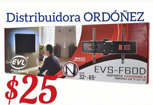 soporte tv pared giratorio brazo extensible. de 32 a 65 pulg