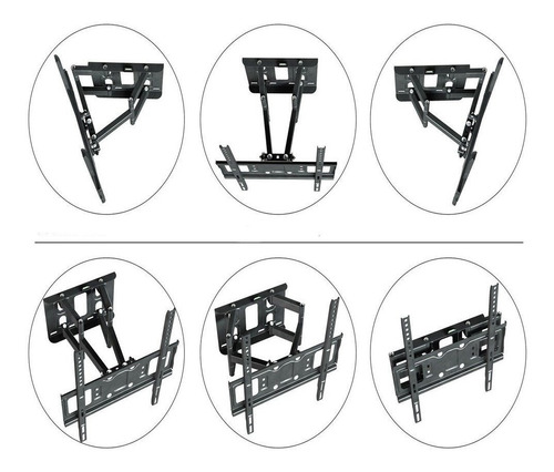 soporte tv pared lcd led doble brazo 32 70 pulgadas 50 kg