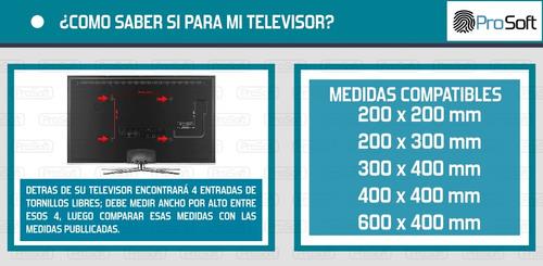 soporte tv reforzado articulado 26 32 37 40 43 50 55 65 70