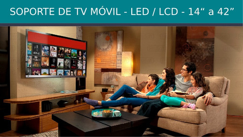 soporte tv smart led lcd articulado 19 24 27 32 39 40 42
