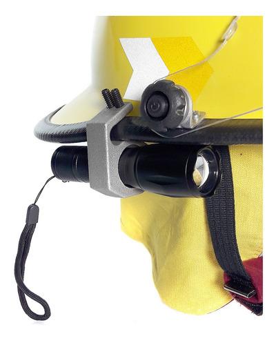soporte universal aluminio de linternas p/ casco de bomberos