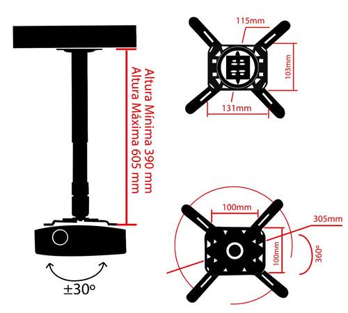 soporte universal proyector techo pared estructura epson