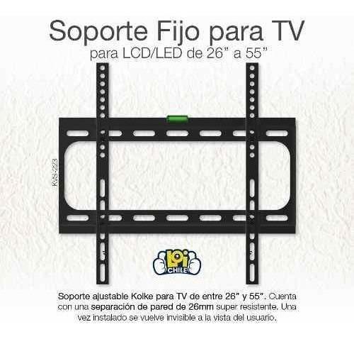 soporte vesa para tv led lcd de 26 a 55 soporta 35 kilos loi
