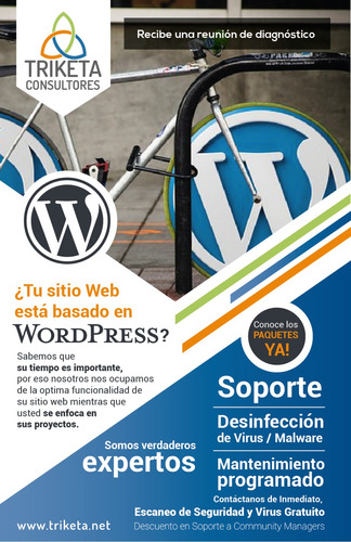 soporte web wordpress y mantenimiento programado